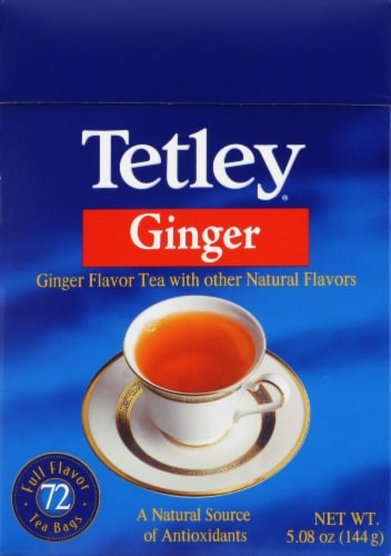 Tetley Ginger Tea Bags Perspective: front