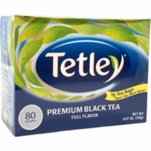 Tetley Premium Black Tea - 240 Gm (80 Bags) Perspective: front