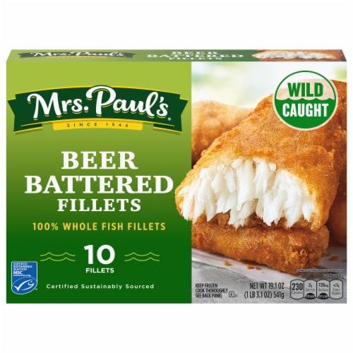 Mrs. Paul's Beer Battered Fillets 10 Count Perspective: front