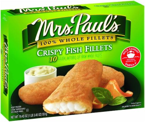 Mrs. Paul's Crispy Fish Fillets 10 Count Perspective: front