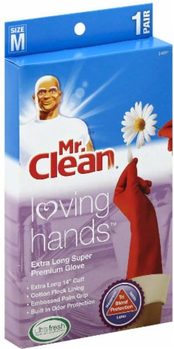 Mr. Clean® Loving Hands Super Premium Gloves - Red Perspective: front