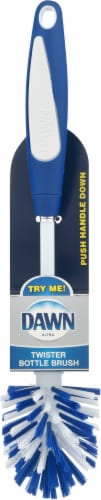 Dawn Twister Bottle Brush - White/Blue Perspective: front