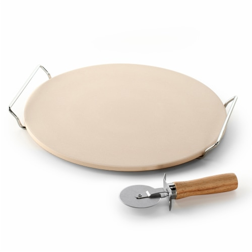 Nordic Ware Pizza Stone 2 PC Set, Tan Perspective: front