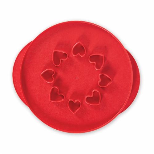 Nordic Ware Lattice & Hearts Pie Top Cutter Perspective: front
