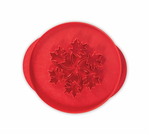 Nordic Ware Apples & Leaves Pie Top Cutter - Red Perspective: front