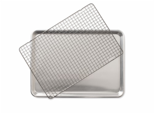 Nordic Ware Naturals Half Sheet with Oven Safe Nonstick Grid Perspective: front