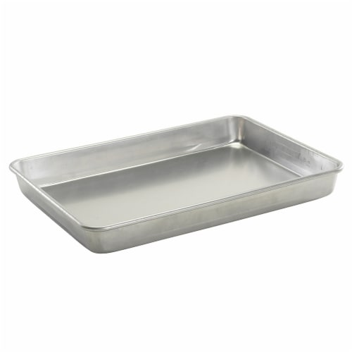 Nordic Ware Natural Aluminum Commercial Hi-Side Sheet Cake Pan Perspective: front