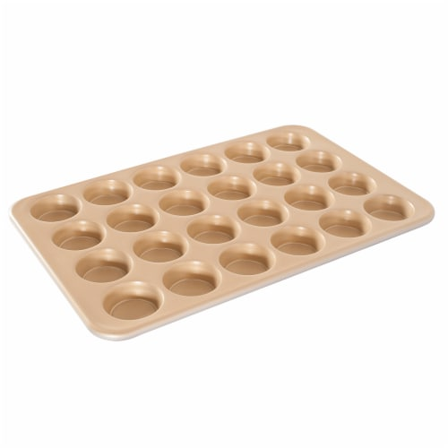 Nordic Ware Natural Aluminum NonStick Commercial Petite Muffin Pan Perspective: front