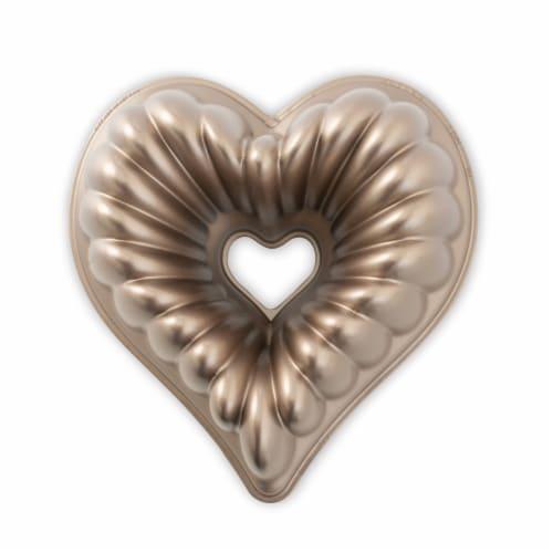 Nordic Ware Elegant Heart Bundt Pan Perspective: front