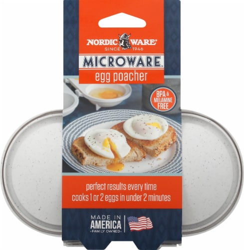 Nordic Ware Microwave 2-Cup Egg Poacher - White Perspective: front