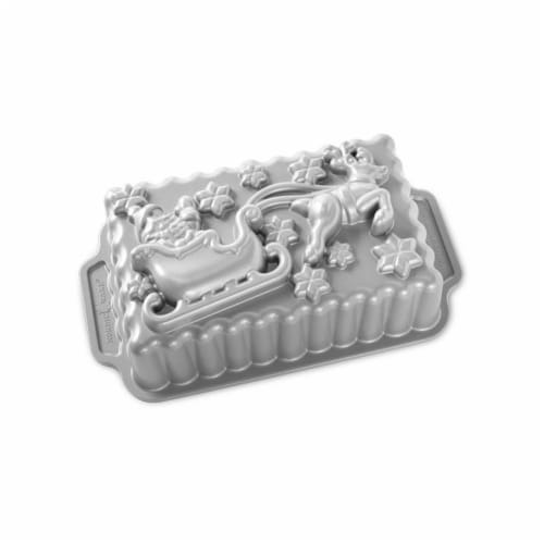 Nordic Ware Santa's Sleigh Loaf Pan Perspective: front