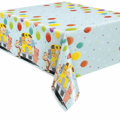 Cocomelon Plastic Table Cover Perspective: front
