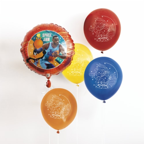 Space Jam Latex Balloons - 8ct Perspective: front