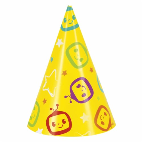Cocomelon Party Hats - 8ct Perspective: front