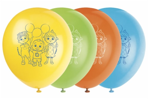 Cocomelon Latex Balloons - 8ct Perspective: front