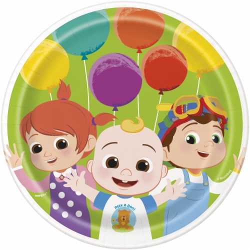 Cocomelon 7 Inch Dessert Plates - 8ct Perspective: front