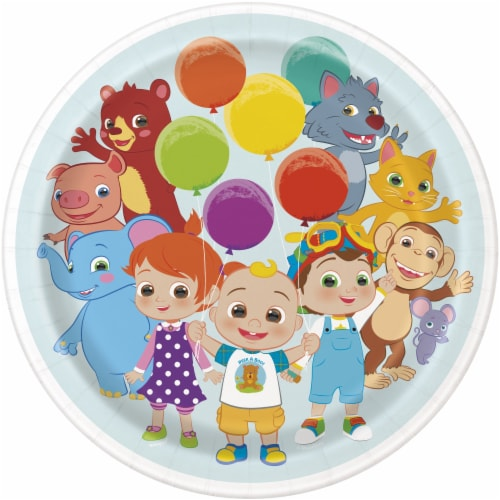 Cocomelon 9 Inch Dinner Plates - 8ct Perspective: front