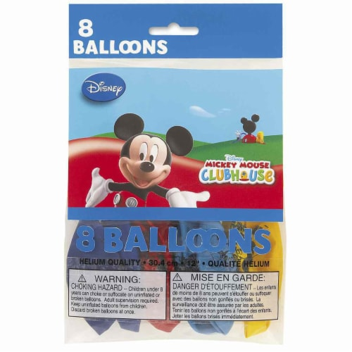 Mickey Mouse Clubhouse Party Balloons [8 Per pack] Perspective: front