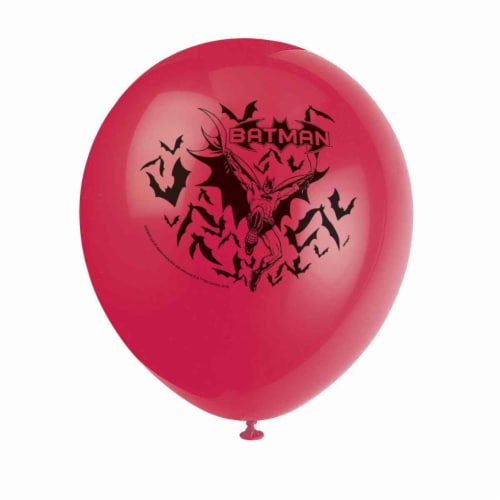 Batman Party Balloons [8 Per pack] Perspective: front
