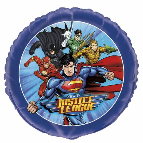 Justice League 18 Inch Foil Balloon Perspective: front