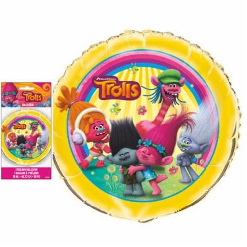 Trolls 18 Inch Foil Balloon Perspective: front
