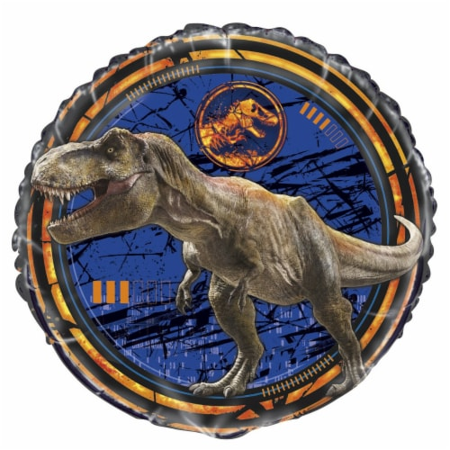 Jurassic World Birthday Party Foil Balloon [18 inches] Perspective: front