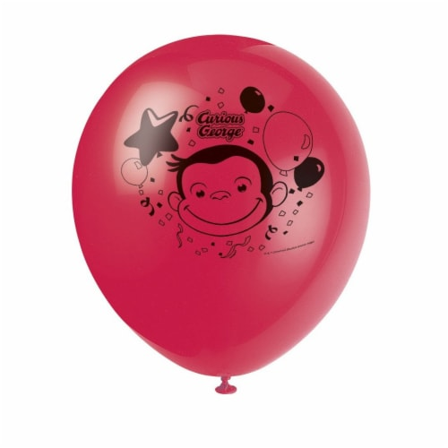 Curious George Latex Helium Balloons [8 Per Pack] Perspective: front