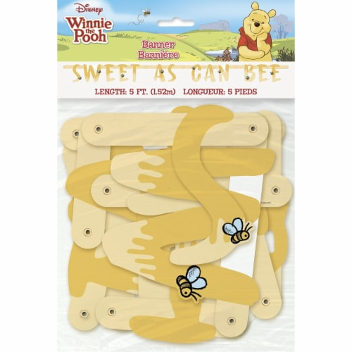 Winnie the Pooh - Happy Honeycomb Party Banner Perspective: front