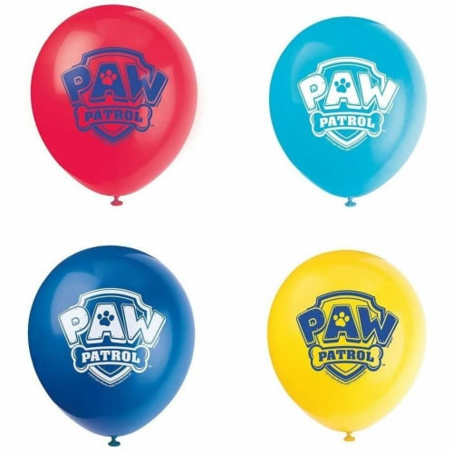 Paw Patrol 12 Inch Latex Balloons 8ct Perspective: front
