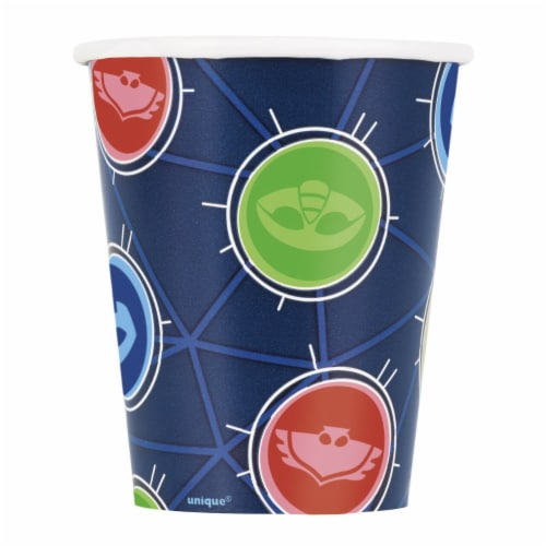PJ Masks 9oz Birthday Party Paper Cups 8ct Perspective: front