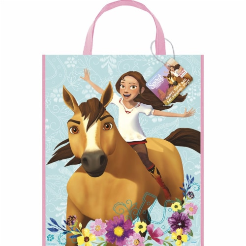 Spirit Riding Free Plastic Party Tote Bag Perspective: front