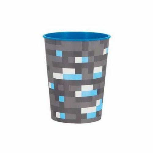 Minecraft 16oz Plastic Stadium Cup Perspective: front