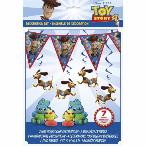 Disney Toy Story 4 Movie 7 Piece Decorating Kit Perspective: front