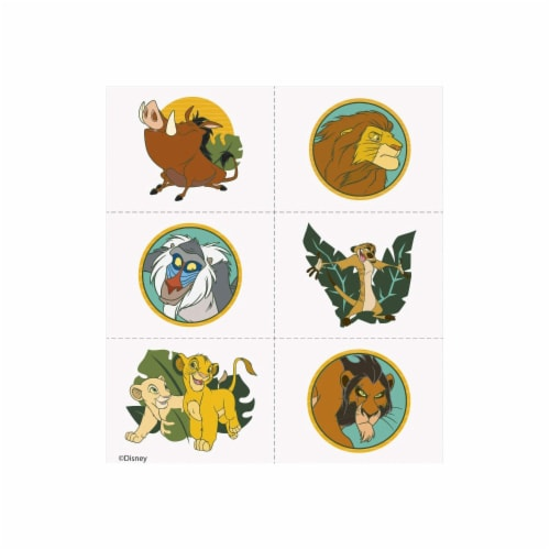 The Lion King Birthday Party Favor Tattoos - Includes 24 Tattoos Perspective: front