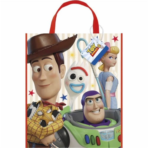 Disney Toy Story 4 Movie Plastic Tote Bag for Party Favor - 13 x 11 Inches - 1 Unit Perspective: front