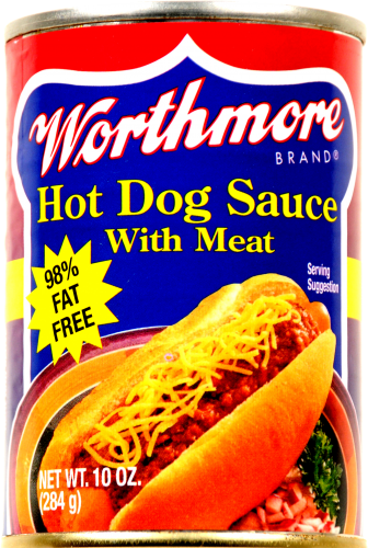 Worthmore Hot Dog Chili with Meat Perspective: front
