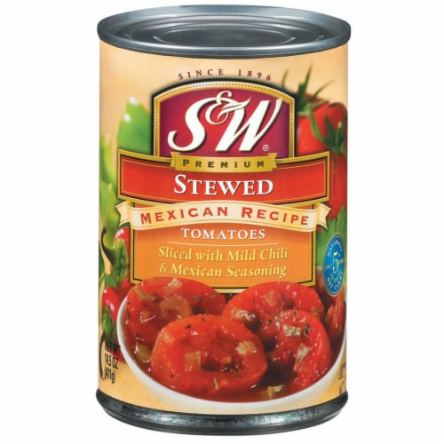 S&W Mexican Recipe Stewed Tomatoes Perspective: front