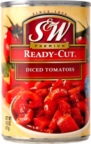S&W Ready Cut Diced Tomatoes Perspective: front