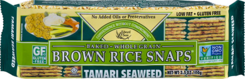 Edward & Sons Tamari Seaweed Brown Rice Snaps Perspective: front