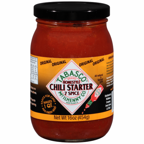 Tabasco Original 7 Spice Homestyle Chili Starter Perspective: front