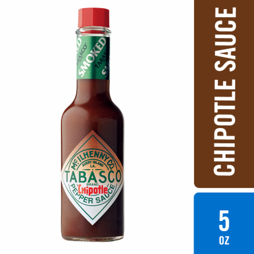 Tabasco Smoked Red Jalapenos Chipotle Pepper Hot Sauce Perspective: front