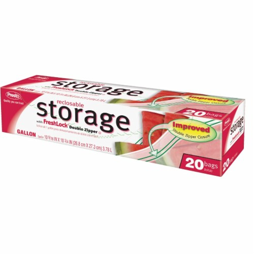 Presto 1 Gal. Reclosable Food Storage Bag (20 Count) CO03713S Perspective: front