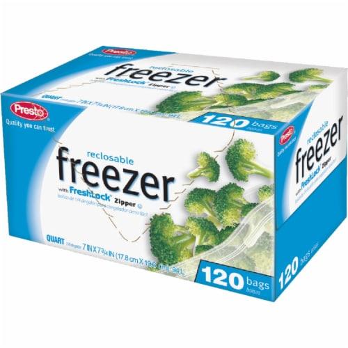 Presto 1 Qt. Reclosable Freezer Bag (120 Count) C00507S0 Perspective: front