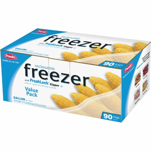 Presto 1 Gal. Reclosable Freezer Bag (90 Count) C00482S0 Perspective: front