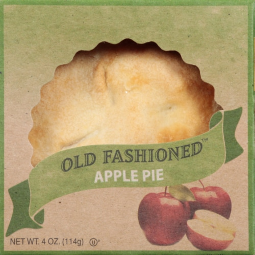 Old Fashioned Baked Apple Pie Perspective: front