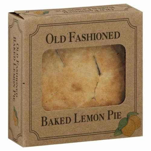 Table Talk Old Fashioned Baked Lemon Pie Perspective: front