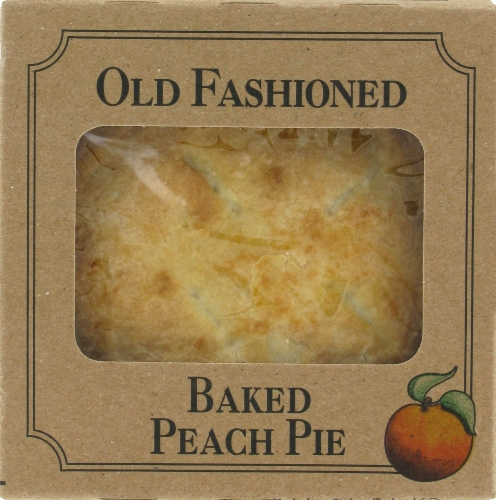 Table Talk Old Fashioned Baked Peach Pie Perspective: front