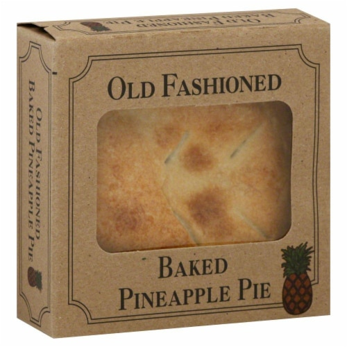 Table Talk Old Fashioned Baked Pineapple Pie Perspective: front