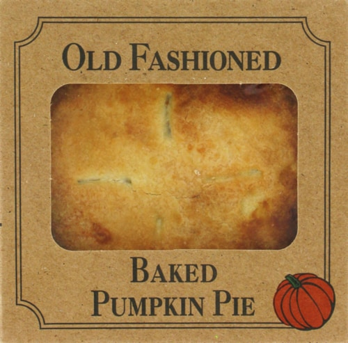 Table Talk Old Fashioned Baked Pumpkin Pie Perspective: front