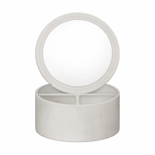 Allure Lucent Stone Mirror Organizer Perspective: front